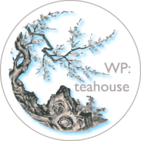 Official logo of the Wikipedia Teahouse