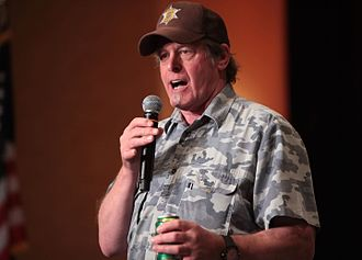 Ted Nugent - Nugent speaking at a campaign event for Sheriff Joe Arpaio in Scottsdale, Arizona.
