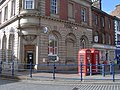 Telephone boxes in front of HSBC, Penrith - geograph.org.uk - 705132.jpg