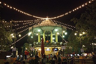 Albacete Fair - Bandstand in modernist style, inside the fair circle.(1912)