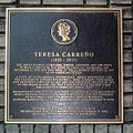 Teresa Carreño plaque.JPG