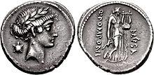 Terpsichore, Denarius, 56 B.C., Rome.jpg