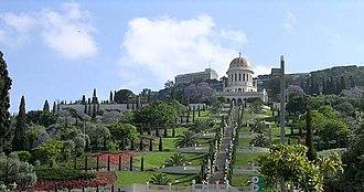 The Shrine of the Báb and its Terraces on Mt. Carmel, Haifa.