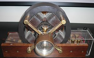 Induction motor - A model of Tesla's first induction motor, in Tesla Museum, Belgrade