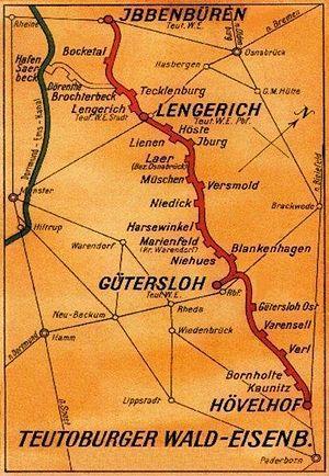 Bahnstrecke Ibbenbürenhövelhof Wikipedia