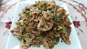 Singju - A vegetarian Singju where lotus stem that is grown under mud as its main ingredient