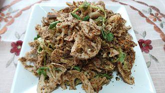 Singju - A vegetarian Singju with lotus root as the main ingredient