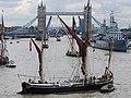 Thames barge parade - downstream - Thalatta 6780s.JPG