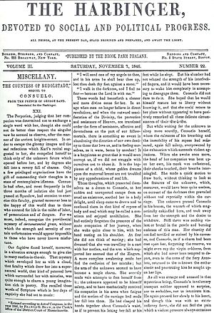 The Phalanx - November 7, 1846, issue of The Harbinger, a later incarnation of The Phalanx