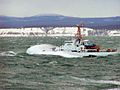 The 110-foot patrol boat Roanoke Island charges through heavy seas.jpg