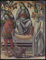 The Assumption of the Virgin with Saints Michael and Benedict MET DP102429.jpg