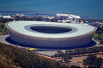 2014 African Nations Championship - Image: The Cape Town Stadium from Table Mountain Cape Town 066