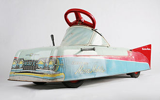 Hafner Manufacturing Company - An Electric Marx Mobile, from 1959, in the permanent collection of The Children's Museum of Indianapolis.