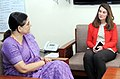 The Co-Chair of Bill & Melinda Gates Foundation, Ms. Melinda Gates meeting the Union Minister for Women and Child Development, Smt. Maneka Sanjay Gandhi, in New Delhi on March 11, 2016.jpg