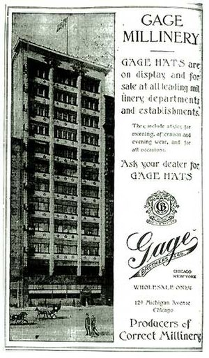 Gage Group Buildings - The Gage Building illustrated in the February 7, 1909 Chicago Sunday Tribune