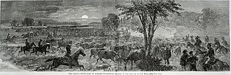 "Beefsteak Raid - ""The Great Cattle Raid at Harrison's Landing""  (from Harper's Weekly)"