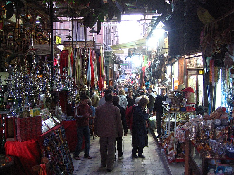 Mercado no Egito