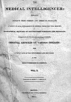 1823 Boston Tıbbi İstihbarat Görevlisi.