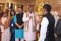 "The Minister of State for Tribal Affairs, Shri Jaswantsinh Sumanbhai Bhabhor lighting the lamp to inaugurate the launch cum workshop of the National Resource Centre for Tribal livelihood ""Vanjeevan"", at Bhubaneswar, Odisha.jpg"