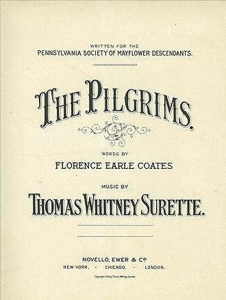 The Mayflower Society - Image: The Pilgrims by Florence Earle Coates Thomas Whitney Surette 1900