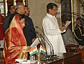 The President, Smt. Pratibha Devisingh Patil administering the oath as Cabinet Minister to Shri Ajit Singh, at a Swearing-in Ceremony, at Rashtrapati Bhavan, in New Delhi on December 18, 2011.jpg