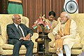 The Prime Minister, Shri Narendra Modi meeting the Prime Minister of Vanuatu, Mr. Sato Kilman, in Jaipur on August 21, 2015.jpg