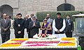 The Prime Minister of the Republic of Trinidad and Tobago, Mrs. Kamla Persad-Bissessar paying homage at the Samadhi of Mahatma Gandhi, at Rajghat, in Delhi on January 06, 2012.jpg
