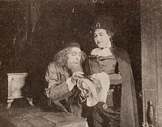 The Scarlet Pimpernel - Dustin Farnum (right) in The Scarlet Pimpernel (1917)
