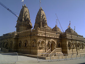 Shree Sanatan Hindu Mandir - A side view of the Shree Sanatan Hindu Mandir in Wembley, London