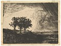 The Three Trees, after Rembrandt MET DP820862.jpg