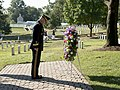 The U.S. Army Military District of Washington conducts a Presidential Armed Forces Full Honor Wreath-Laying Ceremony at the grave of President William H. Taft in Arlington National Cemetery to celebrate his 158th birthday (20820076923).jpg