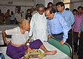 The Union Minister for Health and Family Welfare, Dr. Harsh Vardhan interacting with a patient, at the District Hospital, Agra, during his visit to Agra on October 07, 2014.jpg
