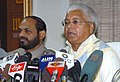 The Union Minister for Railways, Shri Lalu Prasad addressing the Press to announce new container policy for the year, in New Delhi on January 5, 2006.jpg