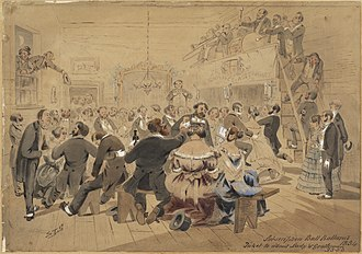 S. T. Gill - Image: The first subscription ball, Ballarat, 1854, watercolour by Samuel Thomas Gill