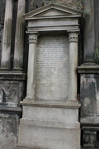 St Mary's Cathedral, Edinburgh (Episcopal) - The grave of Barbara and Mary Walker, Greyfriars Kirkyard