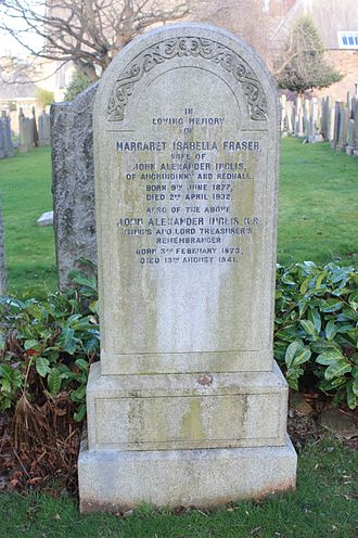 John Alexander Inglis - The grave of John Alexander Inglis, Dean Cemetery, Edinburgh