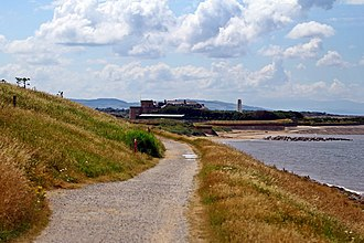 Leasowe - Image: The pathway along Mockbeggar Wharf, Leasowe (geograph 3786719)