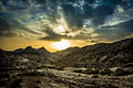 The sun rising on the Tabernas Desert.jpg