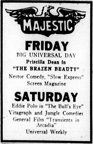 The Brazen Beauty - Contemporary newspaper advertisement.