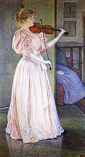 <i>Portrait of Irma Sèthe</i> Painting by Théo van Rysselberghe