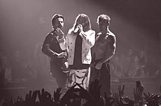 Thirty Seconds to Mars during a performance.