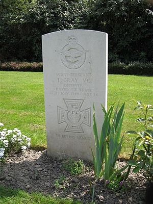 Thomas Gray (VC) - Grave in Heverlee War Cemetery