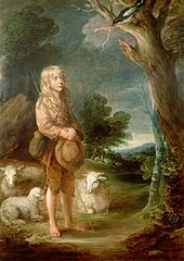Portrait of a Shepherd Boy listening to a Mockingbird