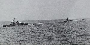 Three japanese No1-class submarine chasers in 1938.jpg