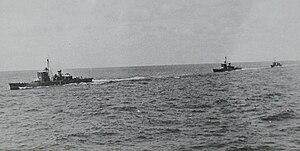 No.1-class submarine chaser - Image: Three japanese No 1 class submarine chasers in 1938