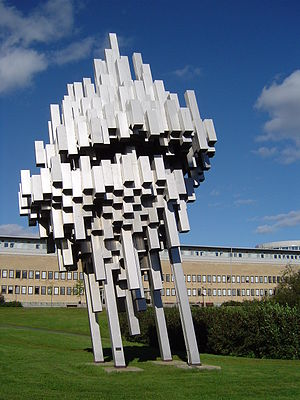 Umeå University - Norra skenet. Sculpture by Ernst Nordin