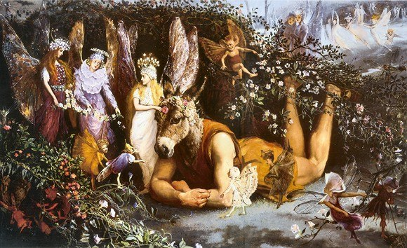 Titania and Bottom John Anster Fitzgerald.JPG