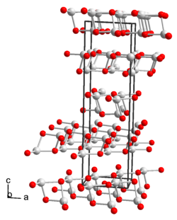 Crystal structure of silver permanganate