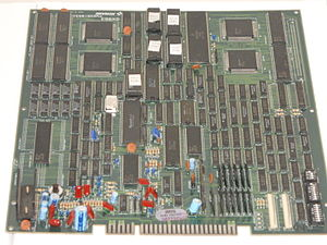 Teenage Mutant Ninja Turtles (arcade game) - A printed circuit board of the game.