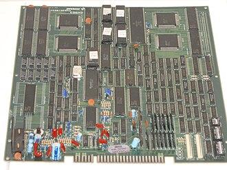 Teenage Mutant Ninja Turtles (arcade game) - A printed circuit board of the game.